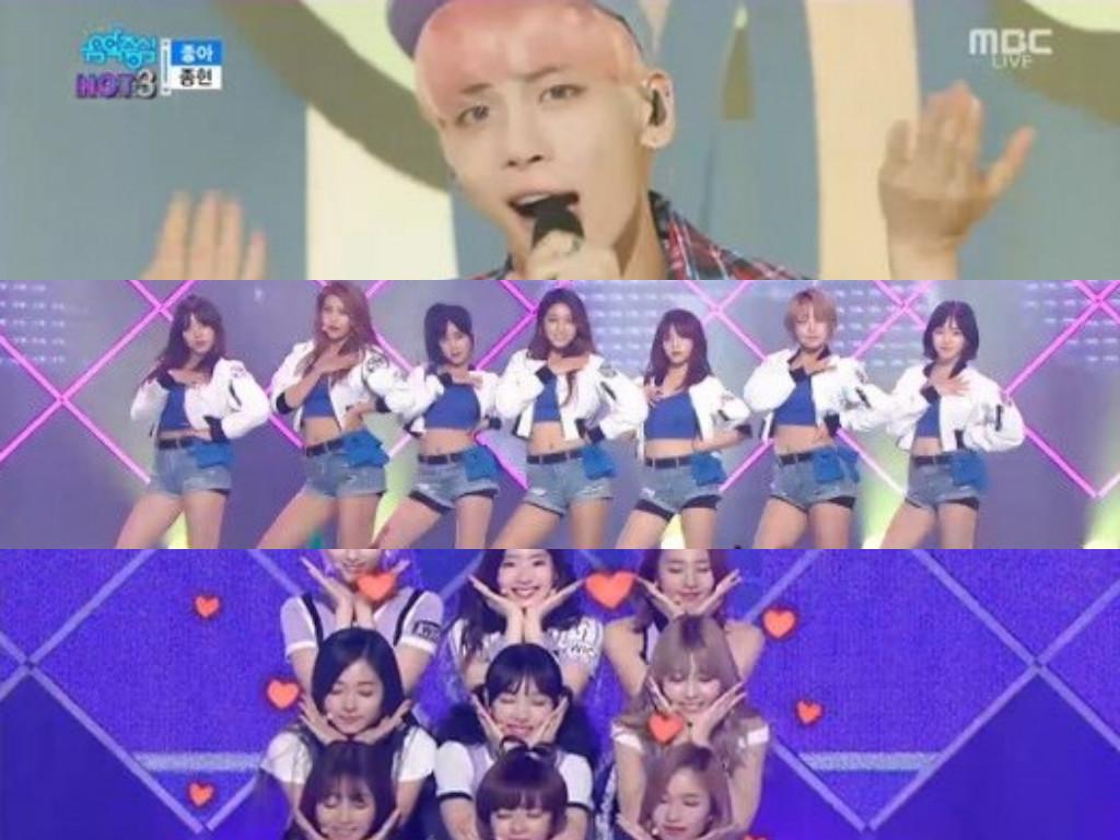 """Actuaciones de Jonghyun, AOA, TWICE y más en """"Music Core"""""""