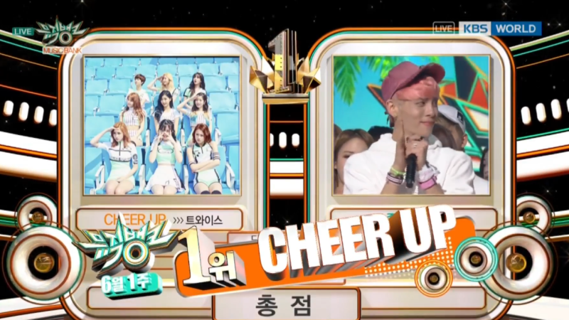 "TWICE consigue su décima victoria con ""Cheer Up"", actuaciones de EXID, FIESTAR, KNK y más en ""Music Bank"""