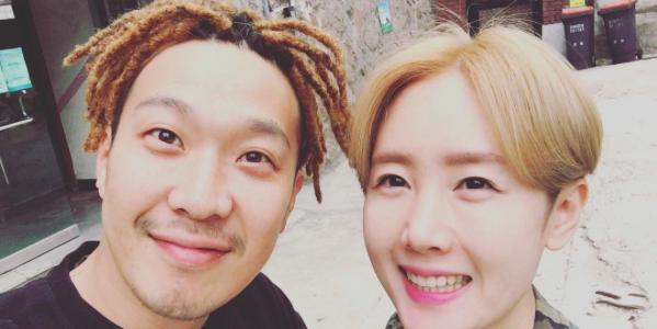 Haha muestra su afecto y su humor en su nueva foto con su esposa Byul