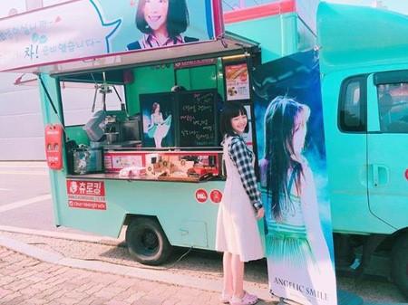 Minah de Girl's Day agradece a sus fans por el camión de comida que enviaron al set para apoyar su drama