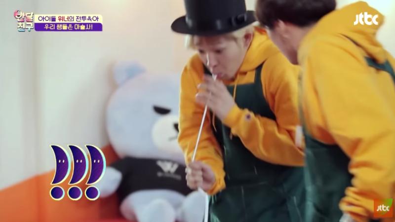 """WINNER realiza un show de magia para los niños en """"Half-Moon Friends"""""""