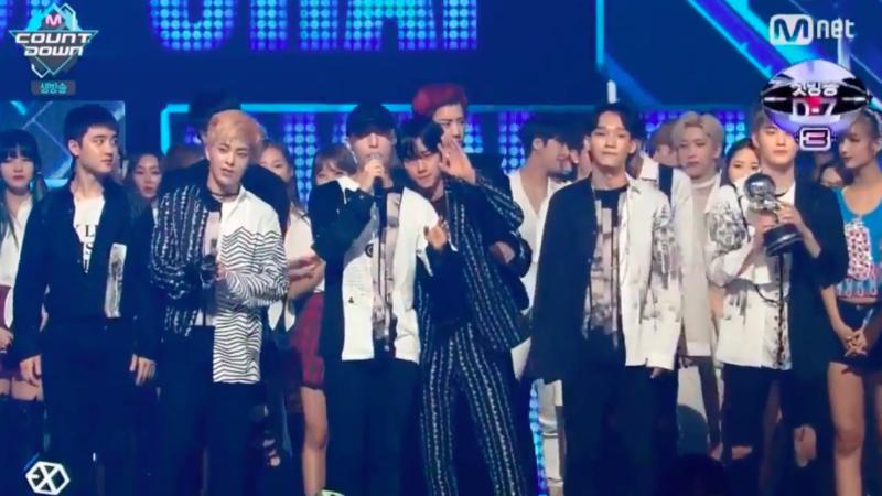 """EXO obtiene su 5ta victoria con """"Monster"""" en """"M!Countdown"""", presentaciones de SISTAR, EXID y más"""