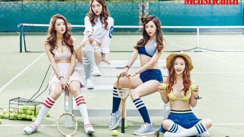Dal Shabet son jugadoras de tenis para la revista Men's Health
