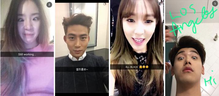 17 de los mejores  u00eddolos y raperos del k-pop a seguir en snapchat