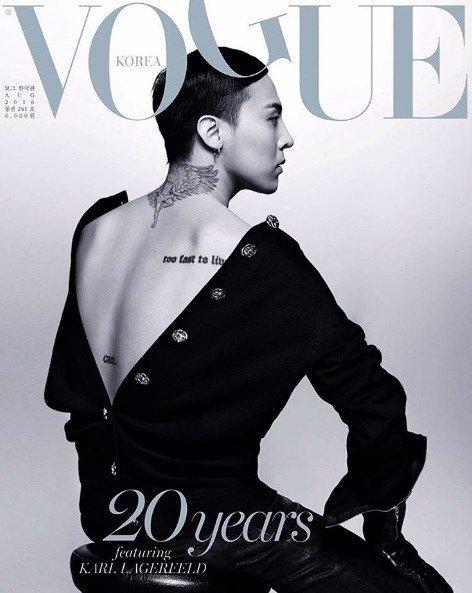 G-Dragon de BIGBANG posa para la revista VOGUE en su vigésimo aniversario
