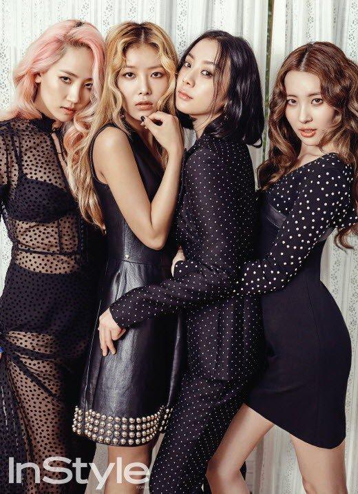 """Wonder Girls revela un concepto retro para la revista """"InStyle"""""""