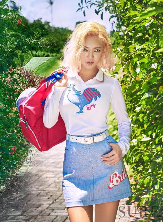 Hyoyeon de Girls' Generation es una moderna jugadora de golf para la revista SURE