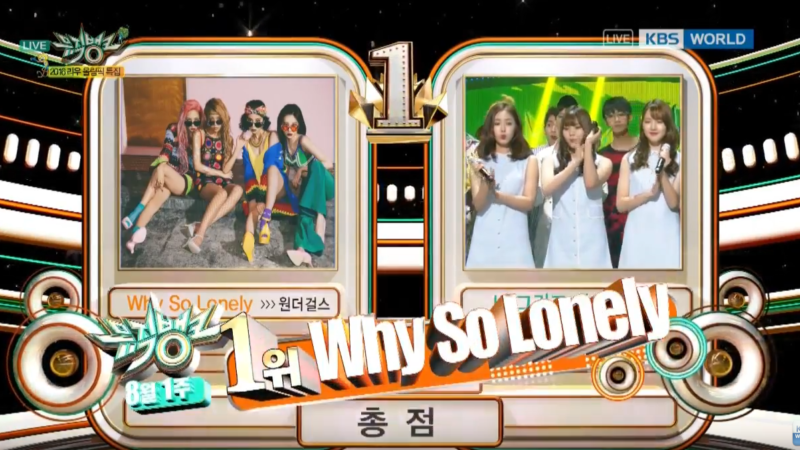 "Wonder Girls consigue su cuarta victoria para ""Why So Lonely"" en ""Music Bank"""