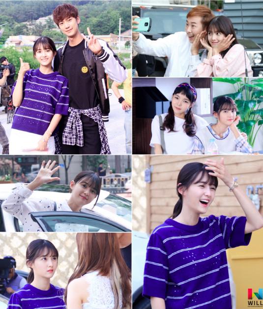"""Nam Bo Ra alegra el set de su nuevo drama web """"Spark"""""""