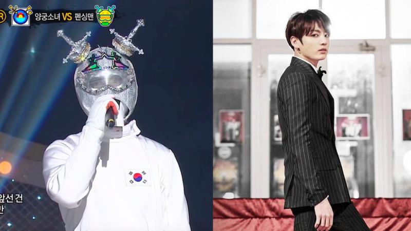"""Participante de """"King Of Masked Singer"""" que se especula es Jungkook de BTS hace su primera actuación"""