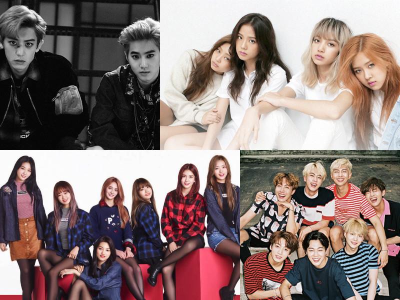 Se revela la lista de cantantes top de K-Pop del mes de agosto