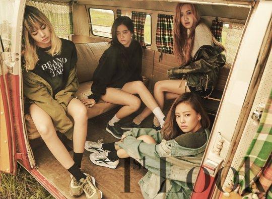 Las integrantes de BLACKPINK en su primera sesión fotográfica con 1st Look