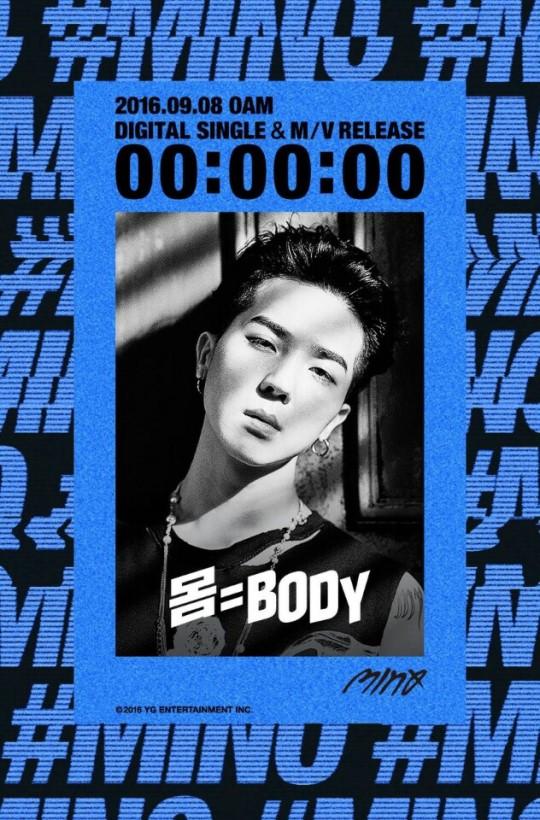 """Song Mino de WINNER publica una cuenta atrás para su tema en solitario, """"Body"""""""
