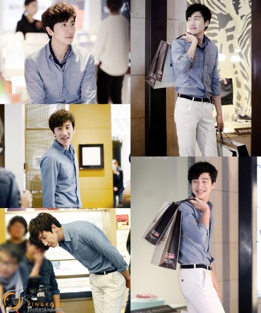 Lee Kwang Soo luce encantador mientras modela para Shilla Duty Free