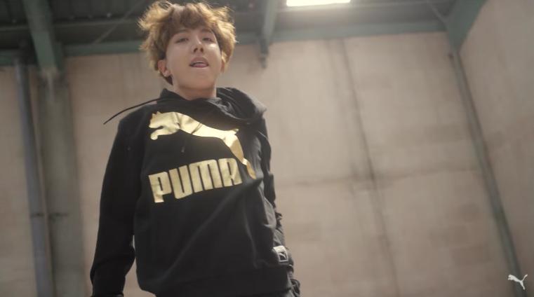 J-Hope de BTS muestra sus movimientos de baile en nuevo comercial para PUMA