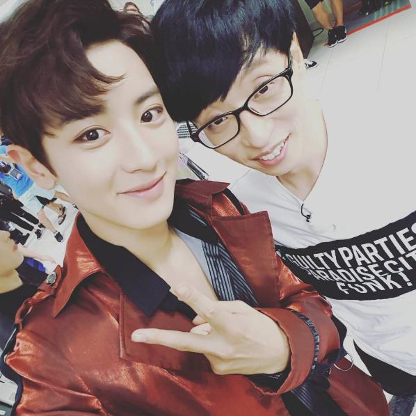 Chanyeol de EXO agradece a Yoo Jae Suk por poner todo su esfuerzo en su colaboración