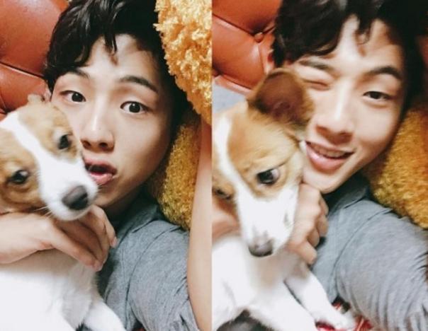 Ji Soo da mimos a su perro después de salir del hospital