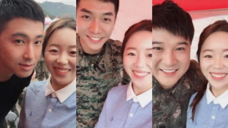 Medallista Olímpica se vuelve la chica más afortunada al conocer a Lee Seung Gi, Yunho y Shindong en el ejército