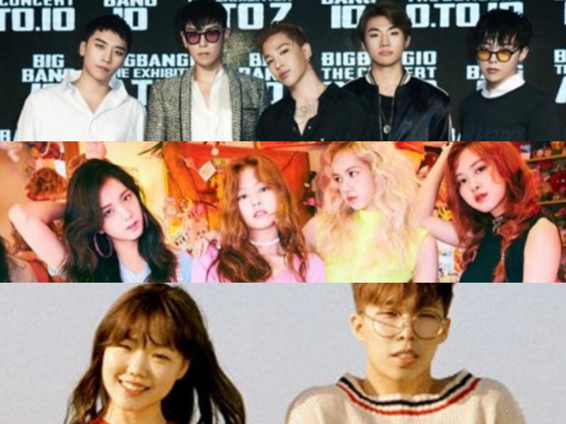 BIGBANG, BLACKPINK y Akdong Musician reportan que regresarán en noviembre