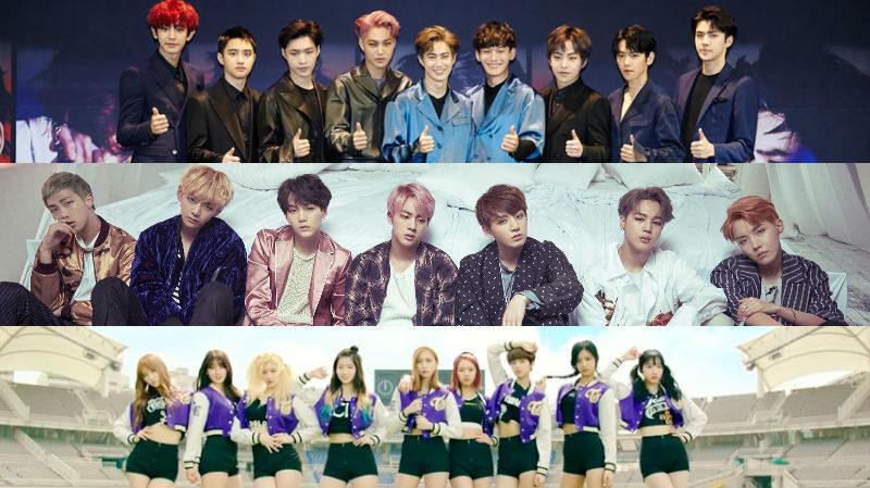 EXO, BTS, TWICE y más se presentan en el concierto Korean Music Wave