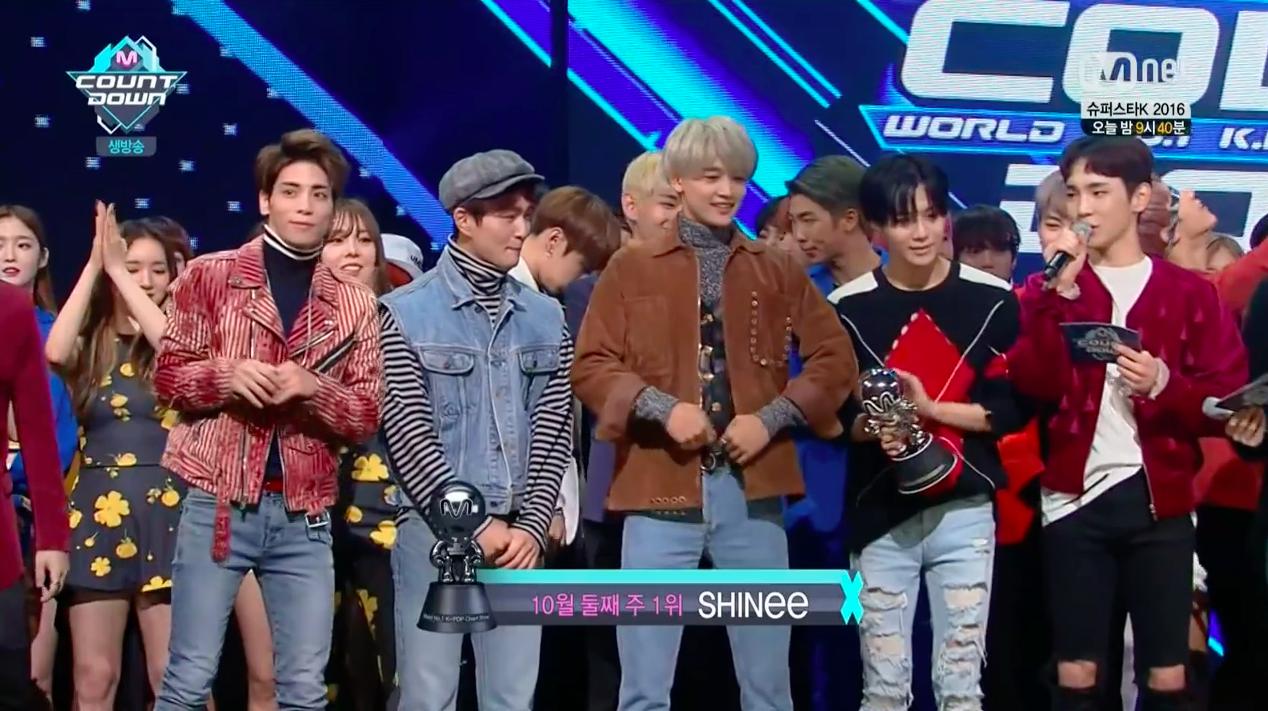 """SHINee se lleva su 2da victoria con """"1 Of 1"""" en """"M!Countdown""""; presentaciones de BTS, GOT7, INFINITE y más"""