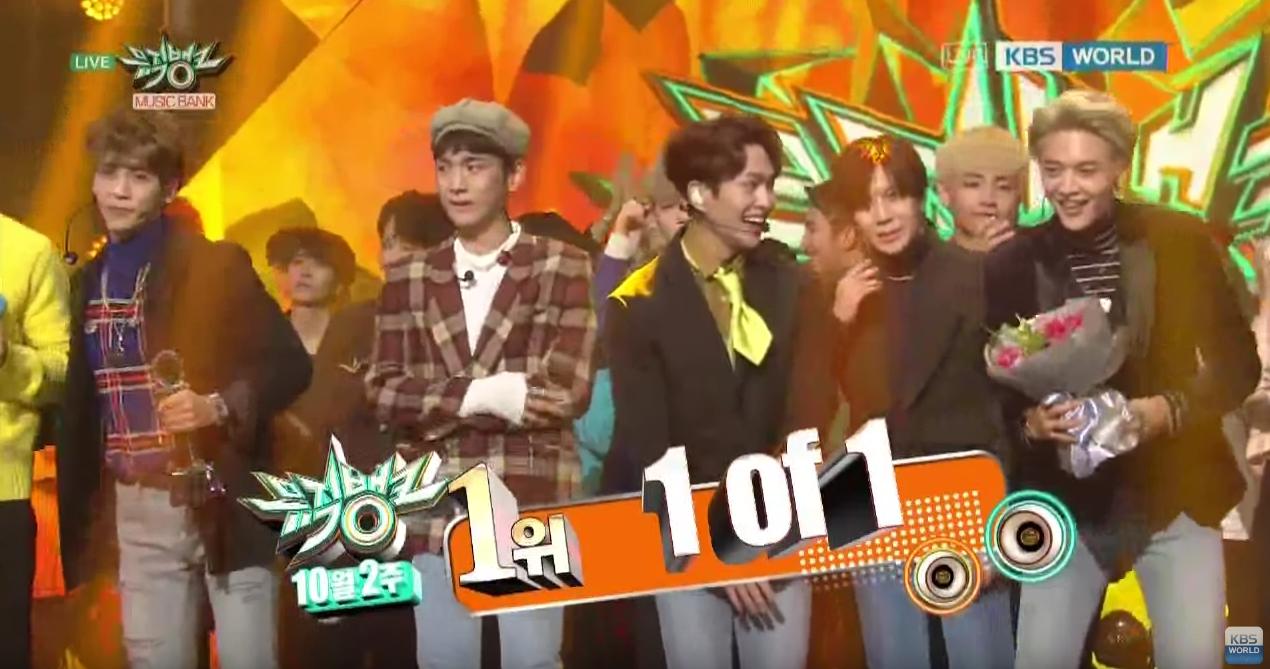 """SHINee consigue su tercera victoria con """"1 of 1"""" en """"Music Bank"""", actuaciones de BTS, GOT7, Davichi y más"""