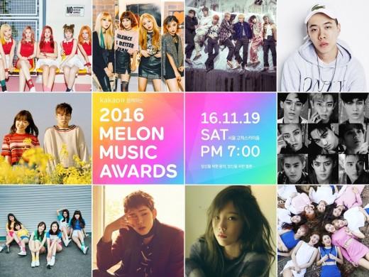 Se revela top 10 de artistas de los premios 2016 Melon Music