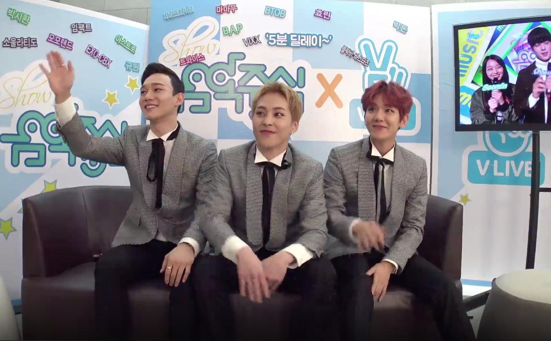 """EXO-CBX, VIXX, BTOB, B.A.P y más se hacen reír mutuamente y reaccionan a sus actuaciones en """"Music Core"""""""