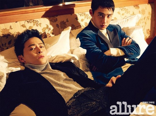 """D.O. de EXO y Cho Jung Seok posan para la portada de """"Allure Korea"""""""