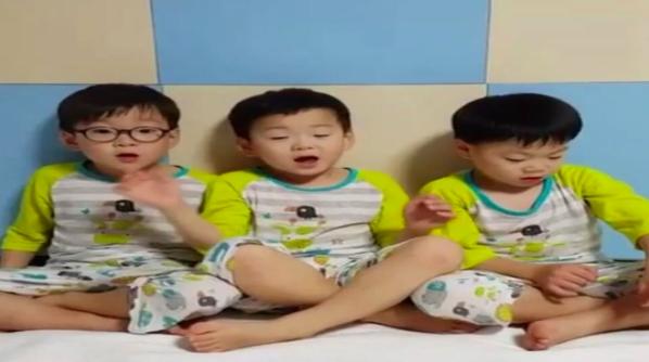 Los trillizos Song desean de forma adorable un feliz cumpleaños a Daebak