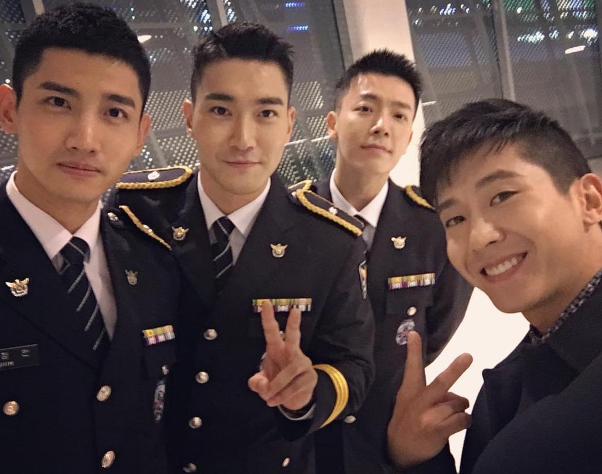 Brian Joo publicó una linda reunión de SMTOWN con Changmin de TVXQ y Choi Siwon y Donghae de Super Junior