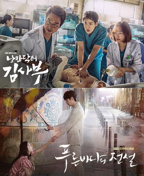 """""""Romantic Doctor Kim"""" y """"The Legend Of The Blue Sea"""" colocan a SBS en el primer lugar"""