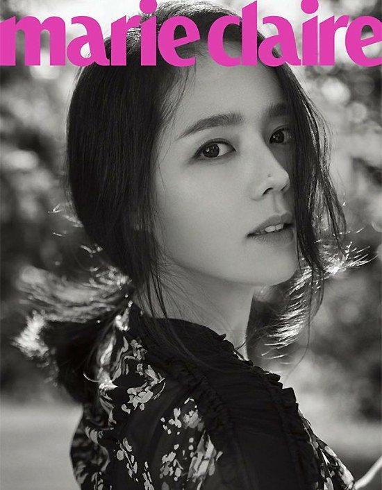 Han Ga In muestra su belleza natural para Marie Claire