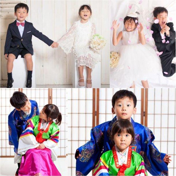 Choo Sarang y Yuto se reúnen para la sesión de fotos de boda más adorable del mundo