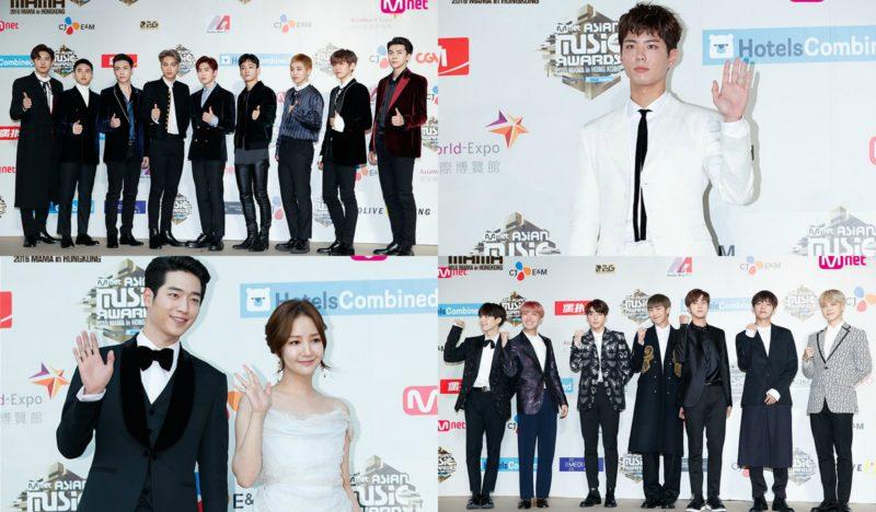 """Las estrellas caminan por la alfombra roja de los """"2016 Mnet Asian Music Awards"""""""