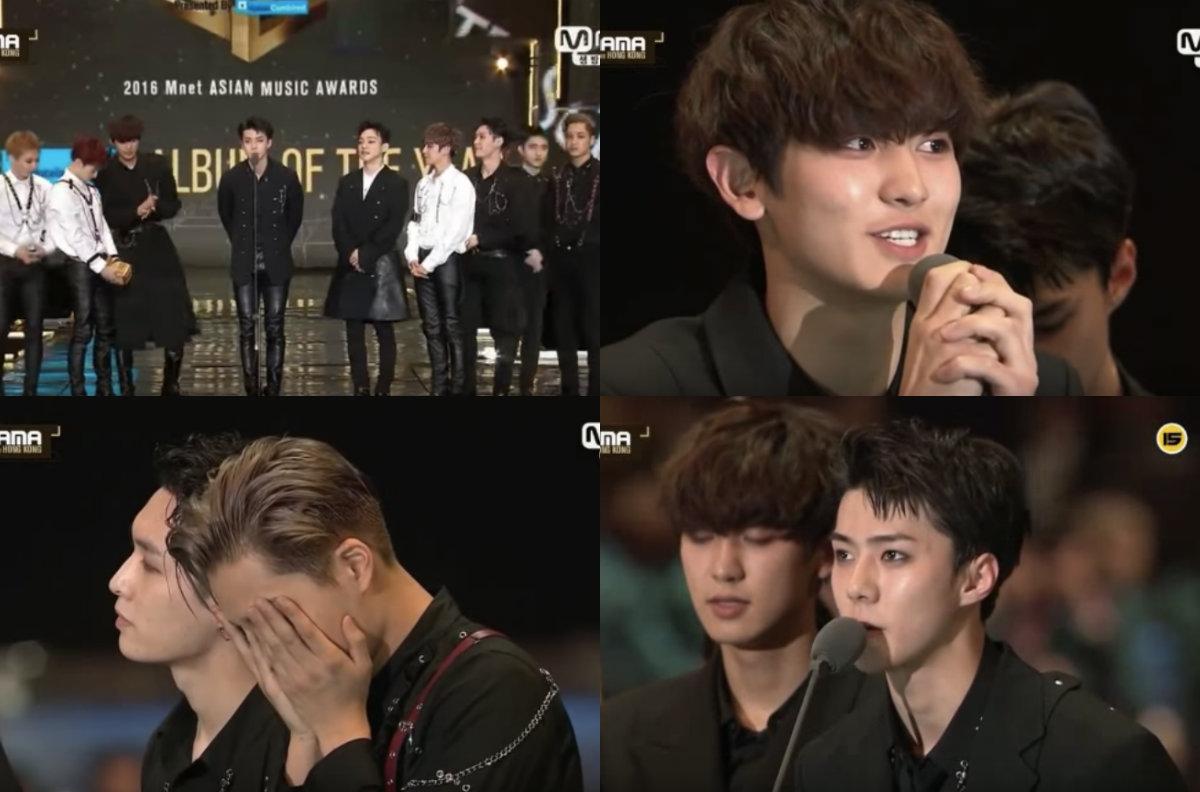 """¡EXO se lleva a casa el premio a """"Álbum del año"""" en los """"2016 Mnet Asian Music Awards (MAMA)"""" por cuarto año consecutivo!"""
