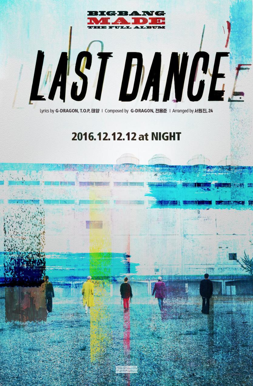 "BIGBANG libera imagen teaser para nueva canción ""LAST DANCE"""