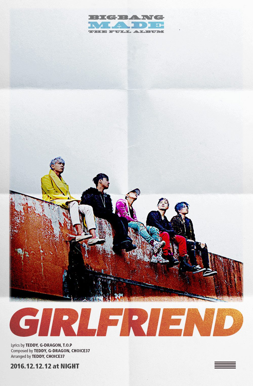 "BIGBANG revela imagen teaser para nueva canción ""GIRLFRIEND"" + revela lista de canciones"