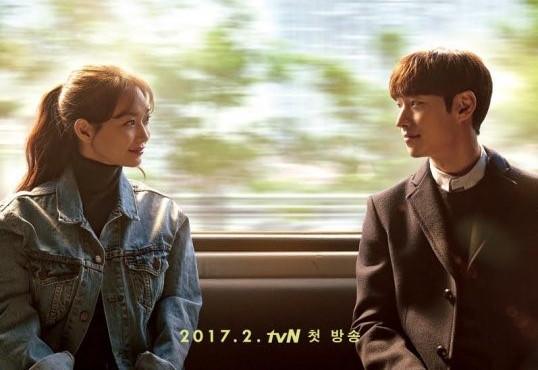 """Shin Min Ah y Lee Je Hoon cruzan sus miradas en el póster de """"Tomorrow With You"""""""