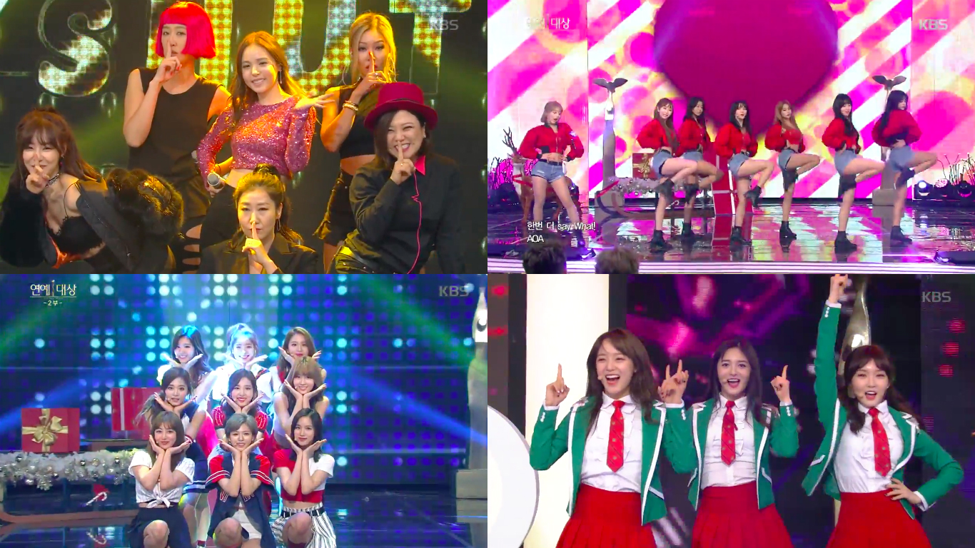 "Unnies (incluyendo Tiffany), AOA, TWICE y I.O.I cantaron en los ""2016 KBS Entertainment Awards"""