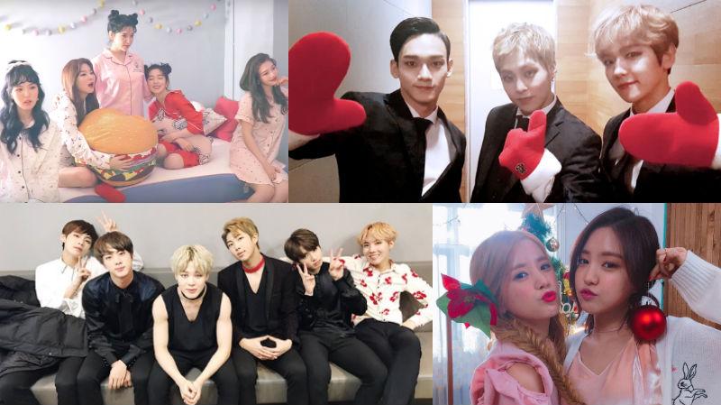 Ídolos del K-Pop comparten sus saludos festivos de fin de año