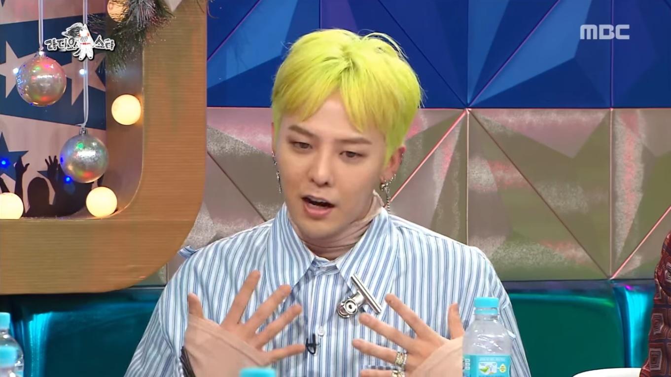 G-Dragon de BIGBANG habla sobre los rumores de su vida amorosa en los que se vio involucrado