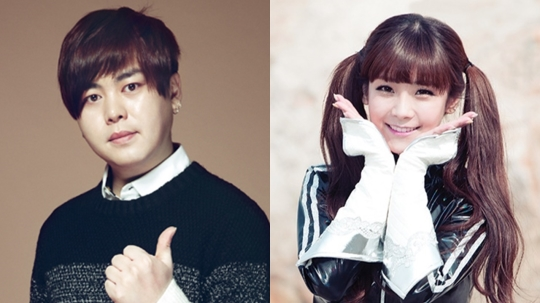 Moon Hee Jun y Soyul de Crayon Pop son vistos en la sesión de fotos para su boda