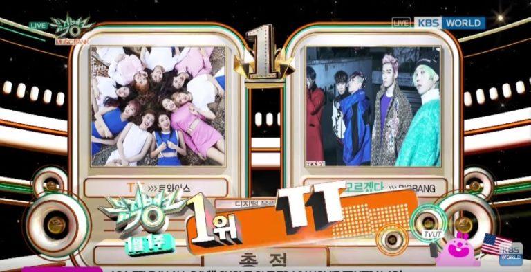 """TWICE consigue su decimotercera victoria para """"TT"""" en """"Music Bank"""", actuaciones de NCT 127, AOA, Cosmic Girls y más"""