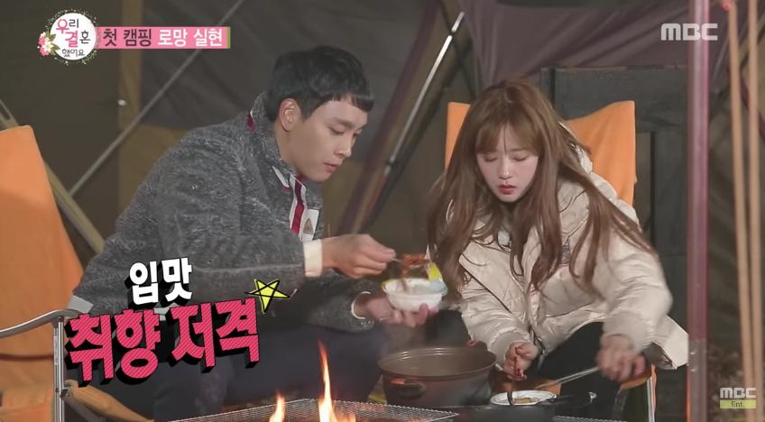Bomi impresiona a Choi Tae Joon con su habilidad para cortar madera y de cocina