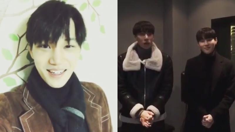 Kai de EXO + Timoteo y Sungwoon de HOTSHOT muestran apoyo al álbum en solitario de su mejor amigo Ravi
