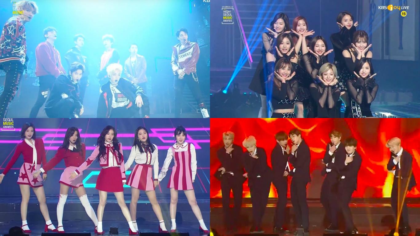 Actuaciones de los premios 26th Seoul Music Awards