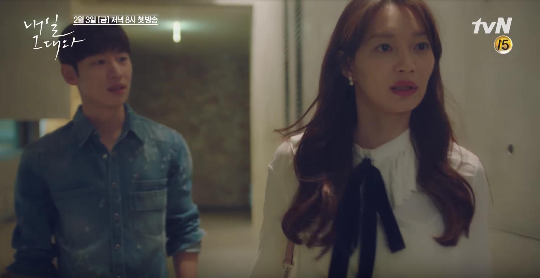 """Lee Je Hoon y Shin Min Ah coquetean con la muerte y entre ellos en adelanto para """"Tomorrow With You"""""""