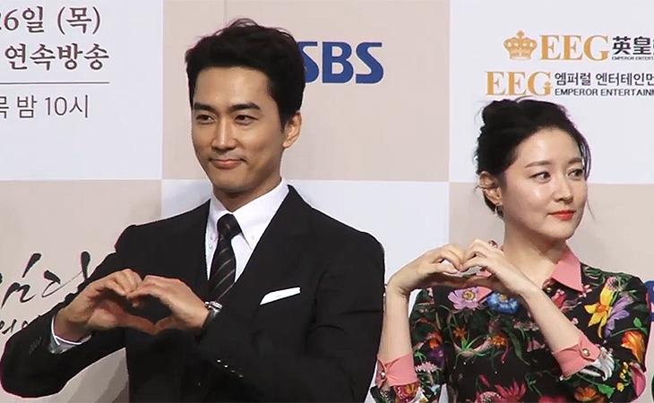 Song Seung Heon dice que actuar con Lee Young Ae lo pone nervioso