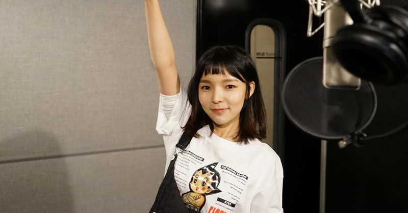 "La actriz Park Jin Joo canta ""Gone Not Around Any Longer"" de SISTAR19"